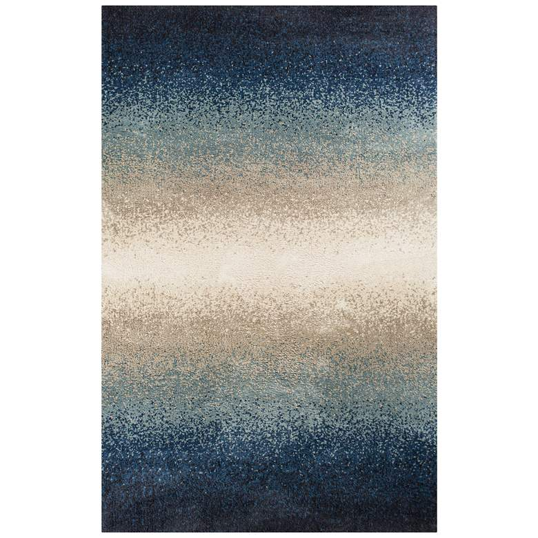 "Madison 3401 5'x7'6"" Blue Ocean Elements Shag Area Rug"