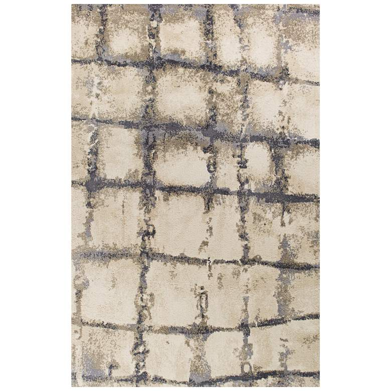 """Madison 3405 5'x7'6"""" Ivory and Gray Dimensions Shag Area Rug"""