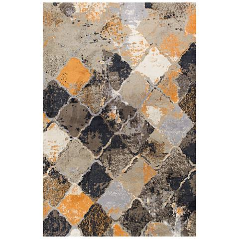 Madison 3409 Multi-Color Abstract Shag Area Rug