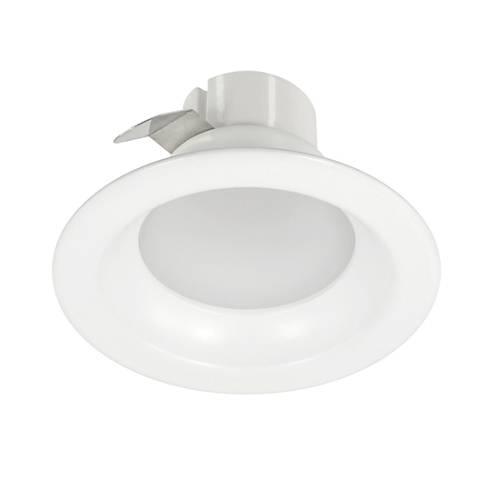 "White 4"" Round 9 Watt Dimmable LED Retrofit Trim"