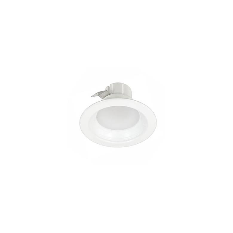 "White 4"" Round 9 Watt Dimmable LED Retrofit Baffle Trim"
