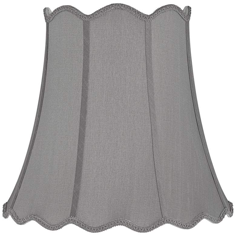 Morell Gray Scallop Bell Lamp Shade 10x16x16 (Spider)