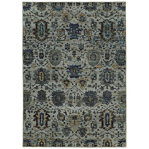 Andorra 7120A Blue and Navy Area Rug