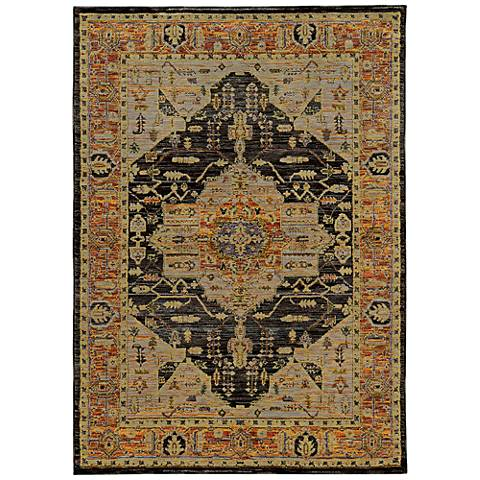 Andorra 7138B Gold and Gray Area Rug