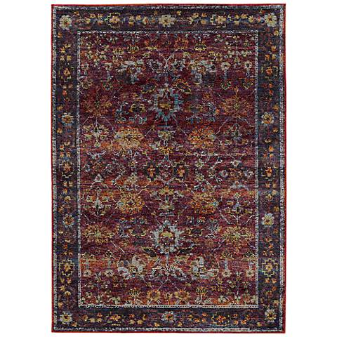 Andorra 7153A Red and Purple Area Rug