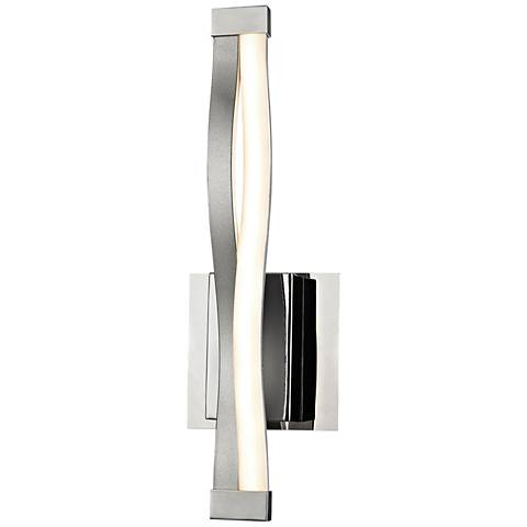 "Twist 15"" High Aluminum and Chrome LED Wall Sconce"