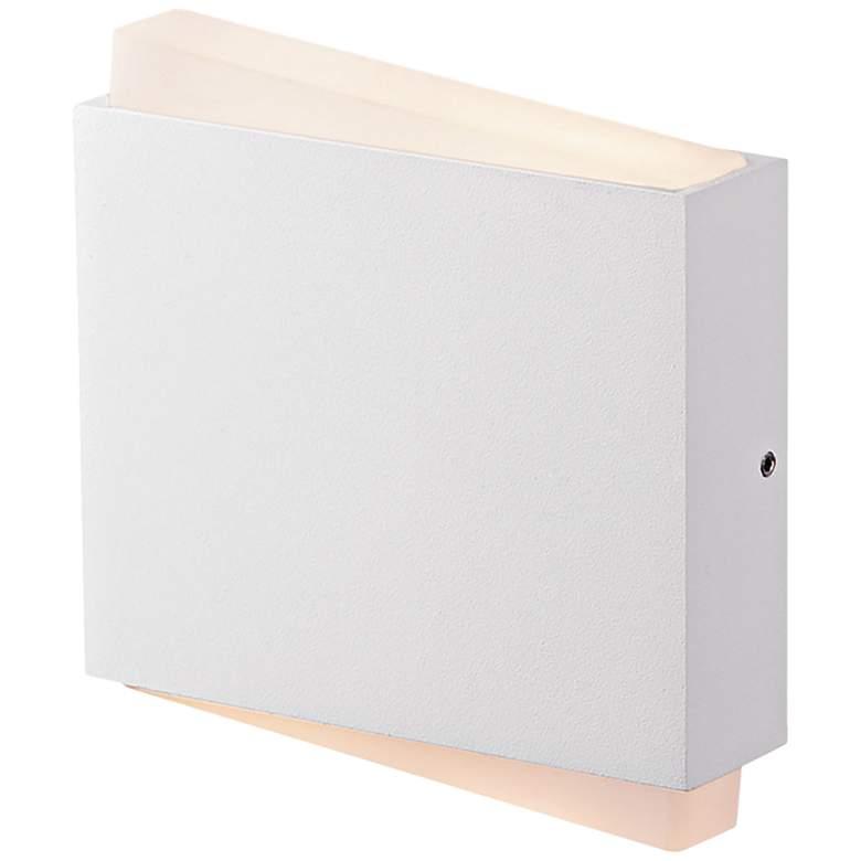 "Fairmont 5 3/4"" High Matte White LED Wall"