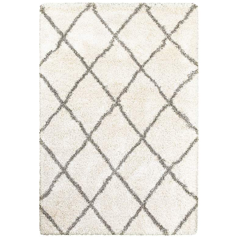 "Henderson 090W9 5'3""x7'6"" Ivory and Gray Area Rug"