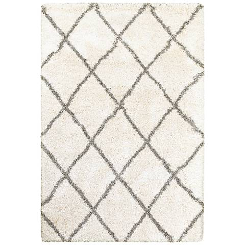 Henderson 090W9 Ivory and Gray Diamonds Area Rug