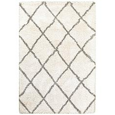 """Henderson 090W9 5'3""""x7'6"""" Ivory and Gray Area Rug"""