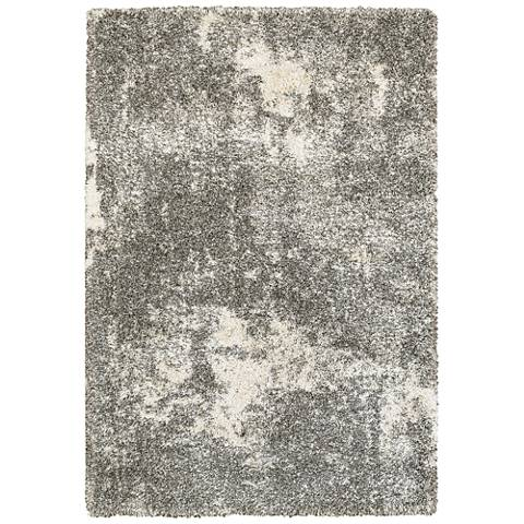 Henderson 5503H Gray and Ivory Mottled Area Rug