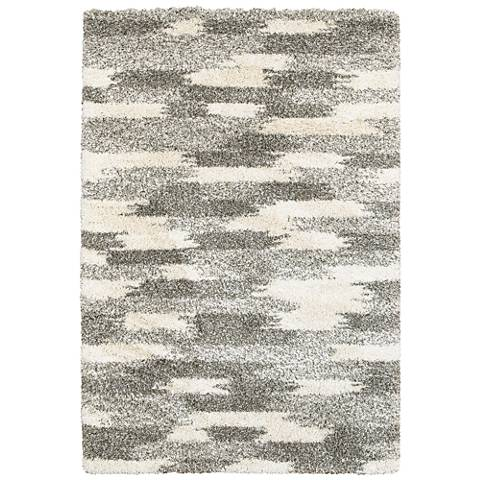 Henderson 565J9 Gray and Ivory Abstract Area Rug