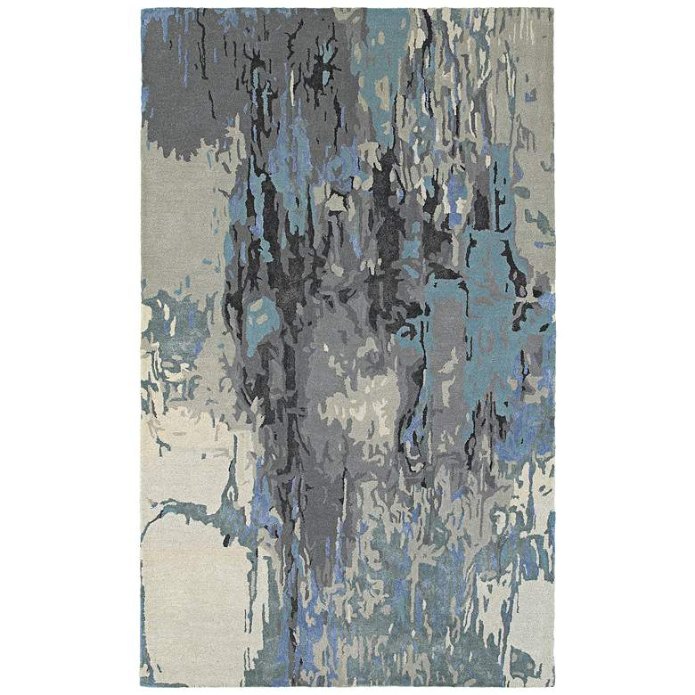 Oriental Weavers Galaxy 21906 5'x8' Blue and Gray Area Rug