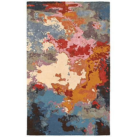 Galaxy 21908 Multi-Color Pink Area Rug