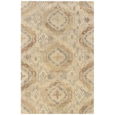 Anastasia 68003 Beige and Ivory Wool Area Rug