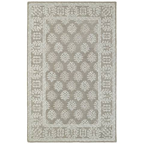 Manor 81202 Gray and Beige Wool Area Rug