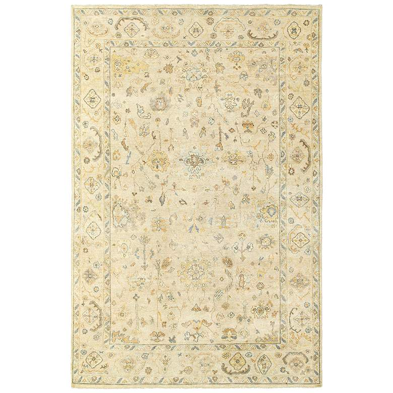 Palace 10301 Beige and Gray Indoor-Outdoor Area Rug