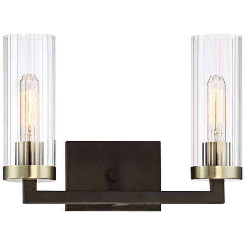 "Ainsley Court 10"" High Kingston Bronze 2-Light Wall Sconce"