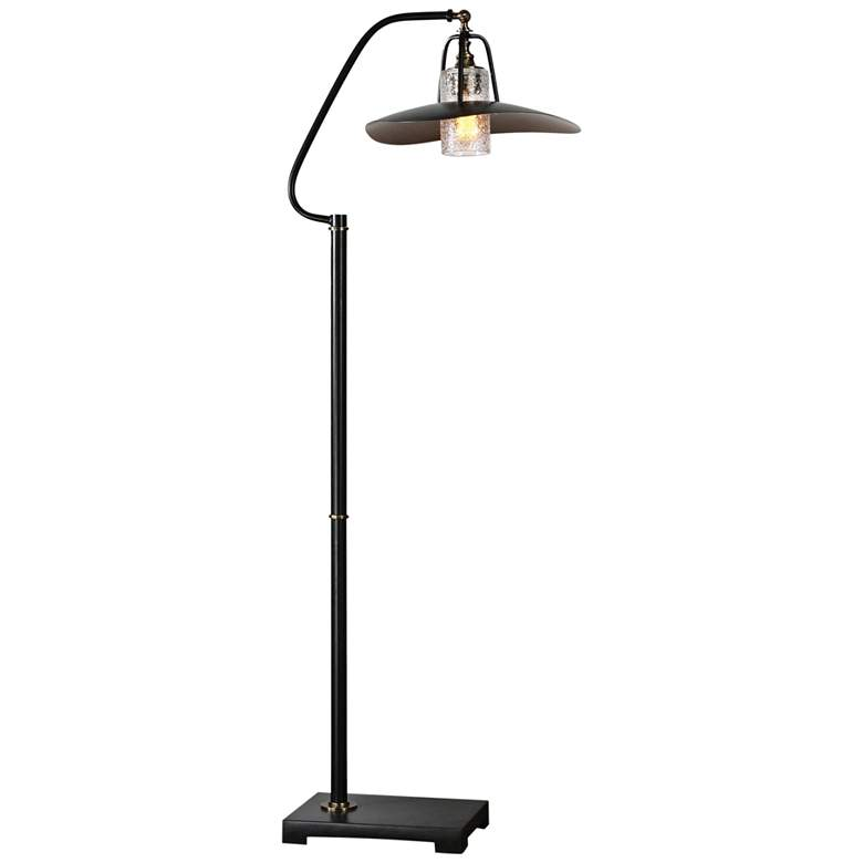 "Uttermost 61"" High Arkutino Aged Black Floor Lamp"