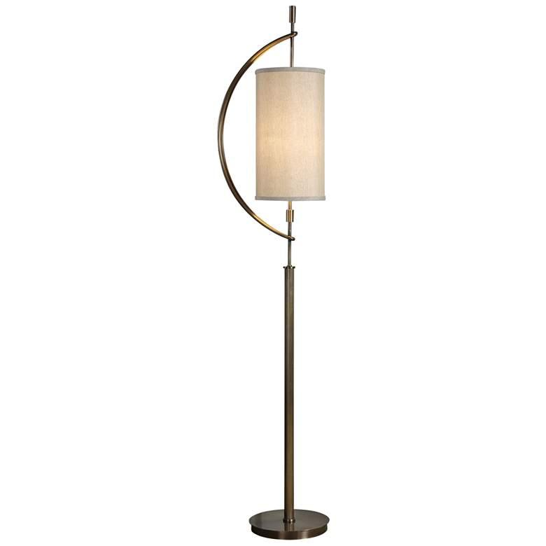 """Uttermost Balaour 66"""" High Antique Brass Floor Lamp"""