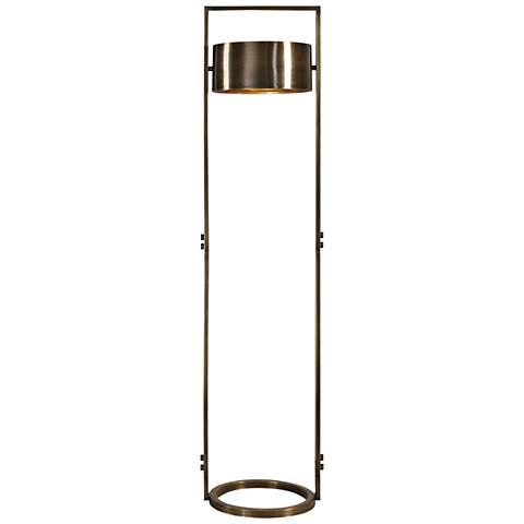Uttermost Ilario Antique Brass Floor Lamp