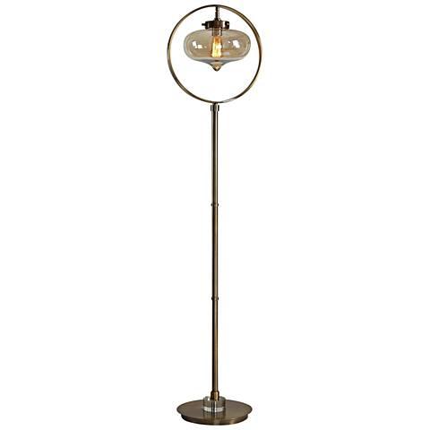 Uttermost Namura Antique Brass Floor Lamp