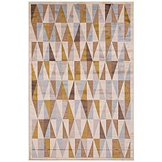"""Jaipur Fables RUG111912 7'6""""x9'6"""" Taupe Tribal Area Rug"""
