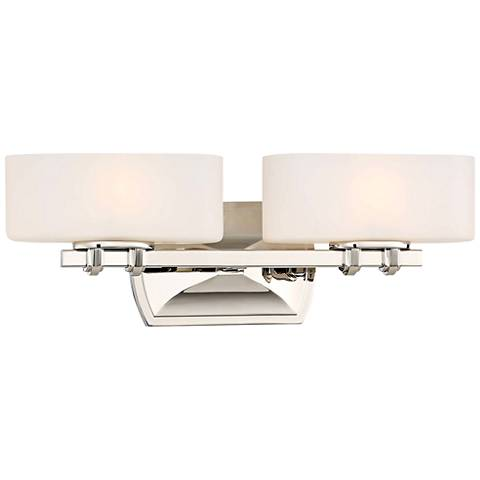 "Drury 6"" High Polished Nickel 2-Light Wall Sconce"