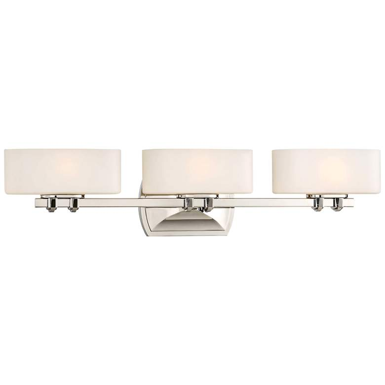 "Drury 26 3/4"" Wide Polished Nickel 3-Light Bath Light"