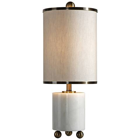 Uttermost Meelagh White Marble Buffet Table Lamp