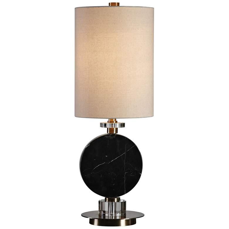 Uttermost Morena Polished Black Buffet Table Lamp