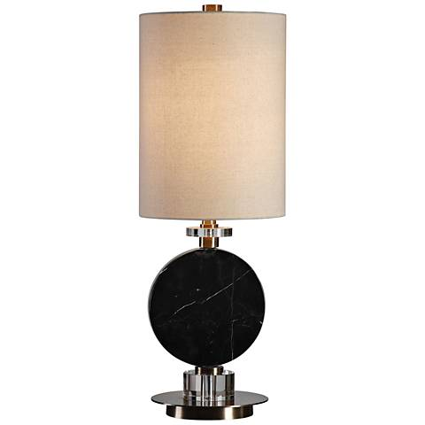 Uttermost Morena Polished Black Buffet Table Lamp