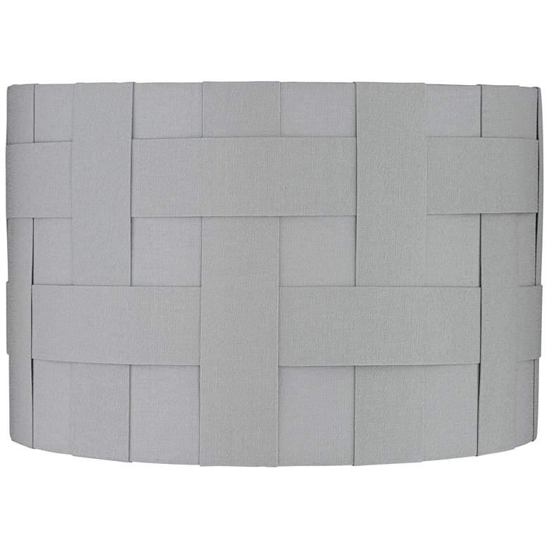 Nigeria Gray Weave Drum Lamp Shade 15.25x15.25x10 (Spider)