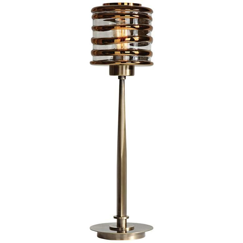 Uttermost Tovel Antique Brass Buffet Table Lamp
