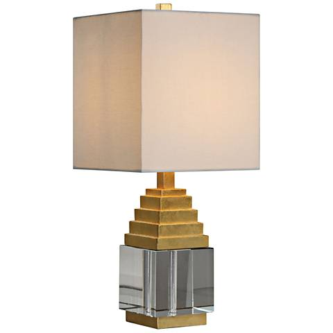 Uttermost Anubis Metallic Gold Leaf Accent Table Lamp
