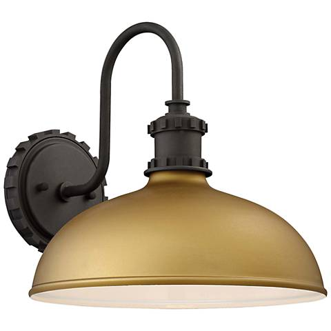 "Escudilla 11 3/4"" High Painted Honey Gold Outdoor Wall Light"