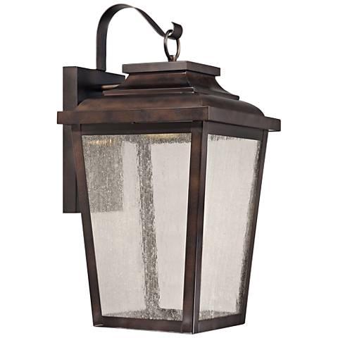 "Irvington Manor 20 3/4"" High Bronze LED Outdoor Wall Light"