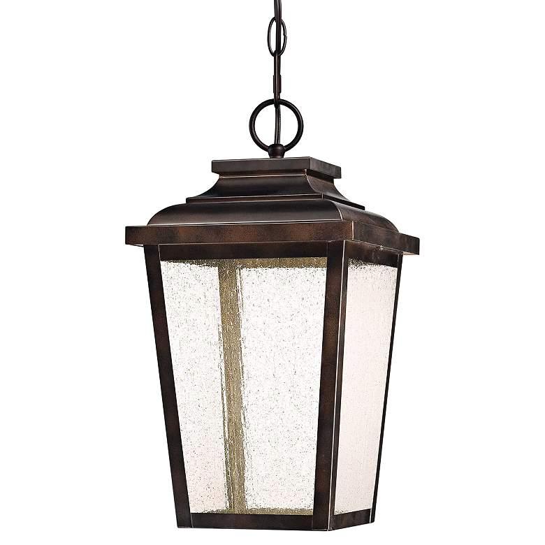 "Irvington Manor 15 1/2""H Bronze LED Outdoor Hanging"
