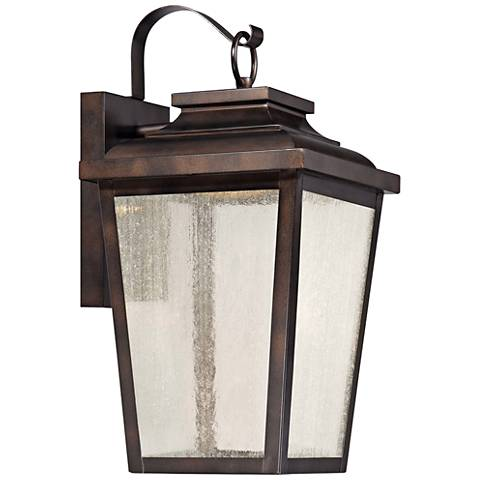 "Irvington Manor 16 3/4"" High Bronze LED Outdoor Wall Light"