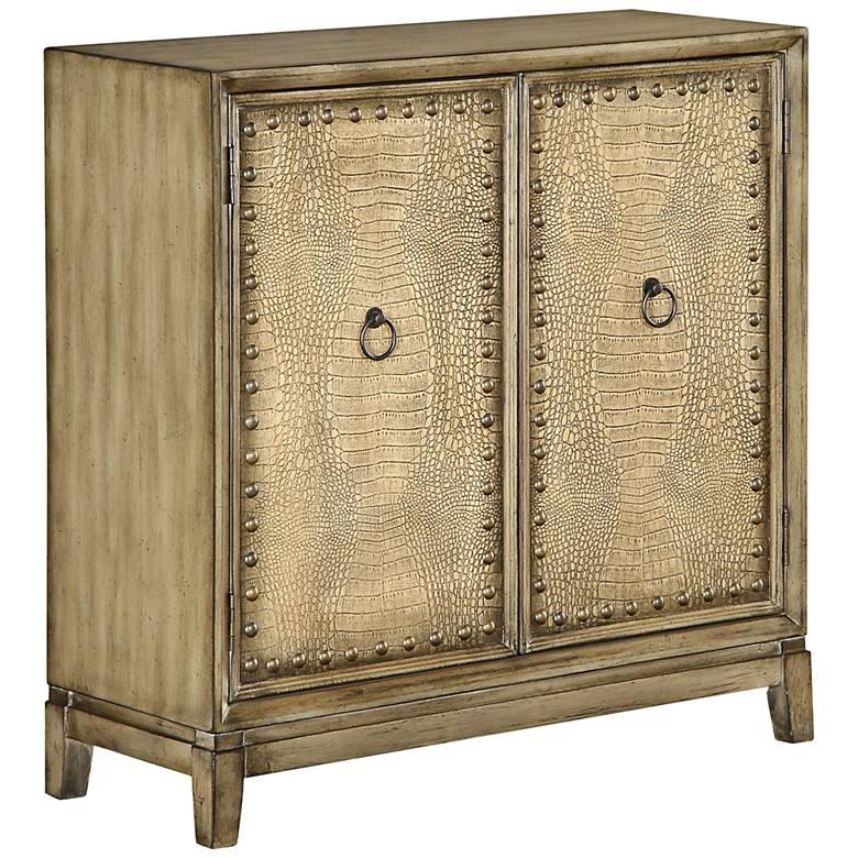 "Palladium 35 1/2"" wide Distressed Wood 2-Door Chest"