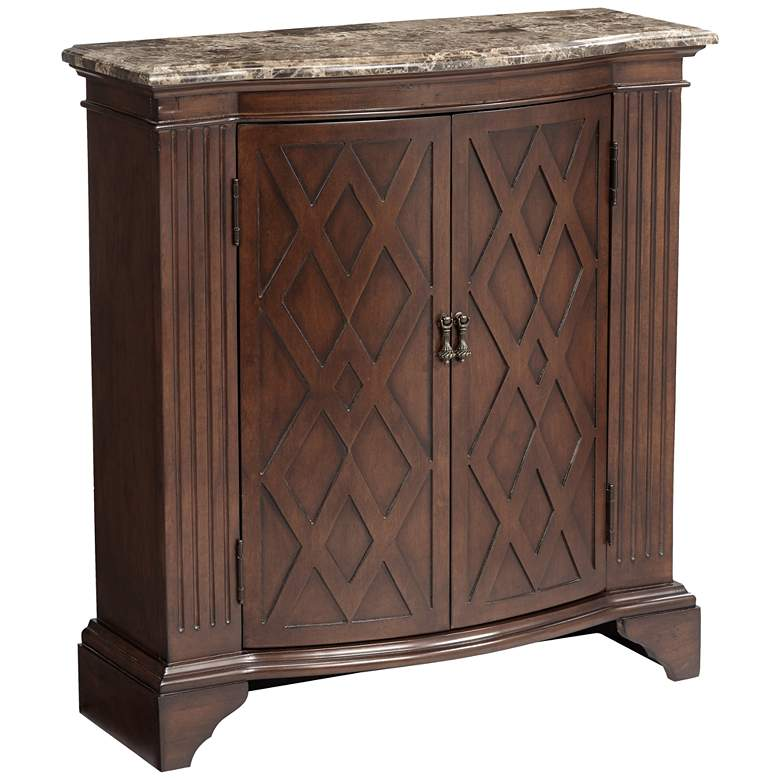 """Barrister 32"""" Wide Diamond Doors Traditional Storage Chest"""