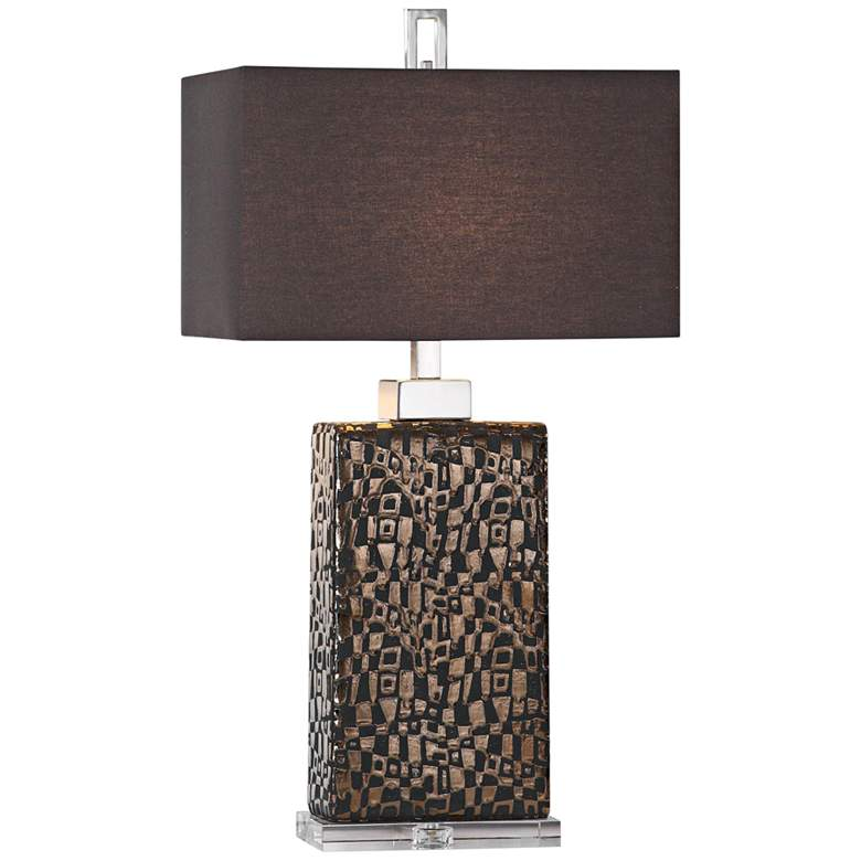 Uttermost Olavo Dark Bronze Ceramic Table Lamp