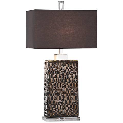 Uttermost Olavo Dark Bronze Ceramic Table Lamp