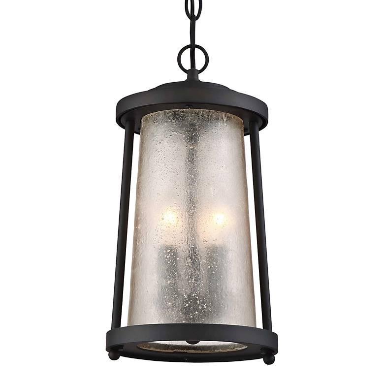 "Haverford Grove 16 1/4"" High Bronze Outdoor Hanging Light"