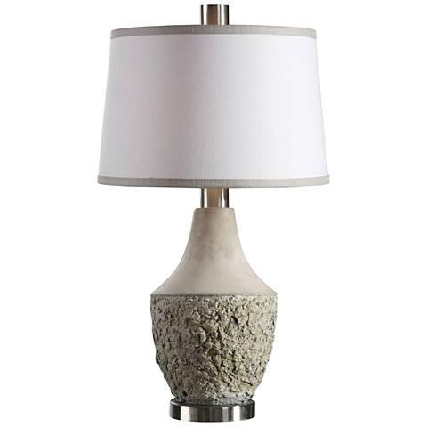 Uttermost Veteris Gray Ceramic Table Lamp