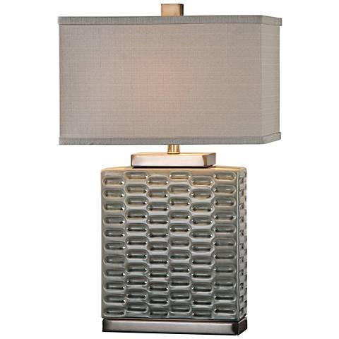 Uttermost Virelles Gray Ceramic Table Lamp