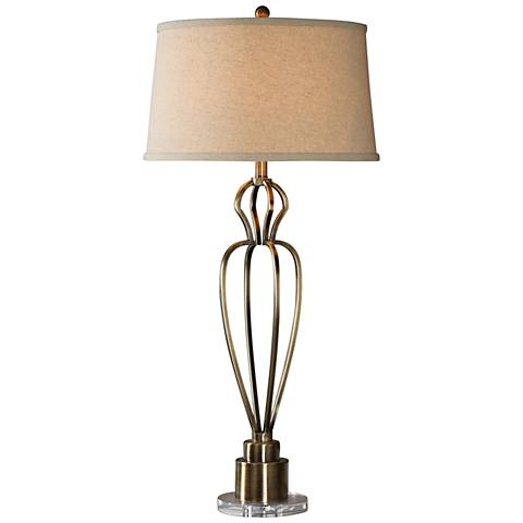Uttermost Wallonia Antique Brass Table Lamp