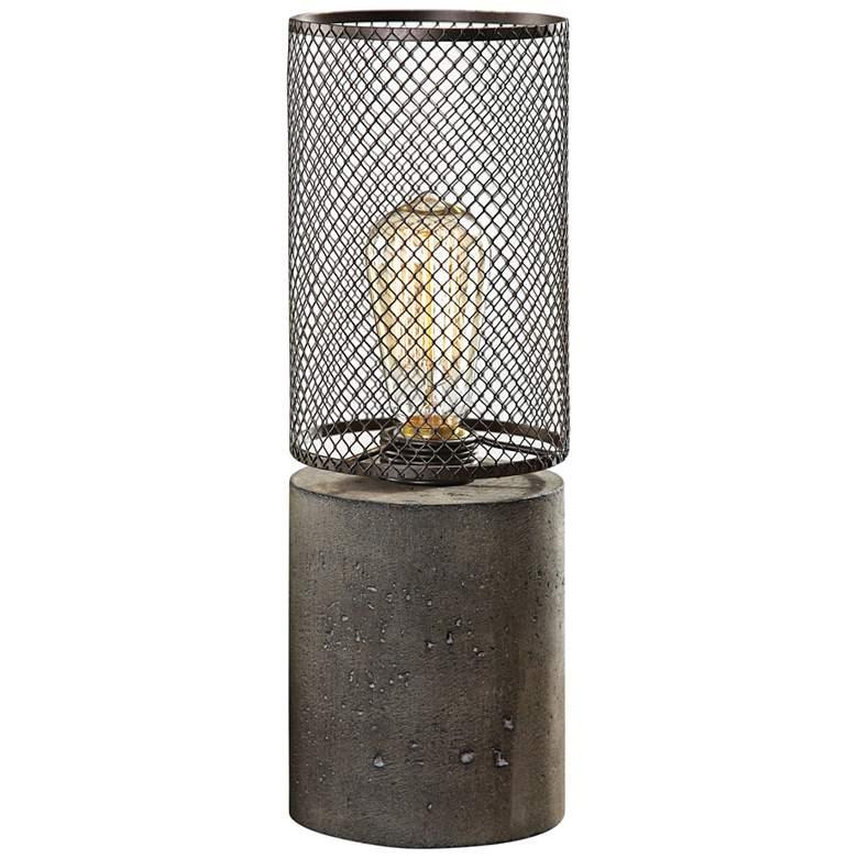 Uttermost Ledro Charcoal Concrete Accent Buffet Table Lamp