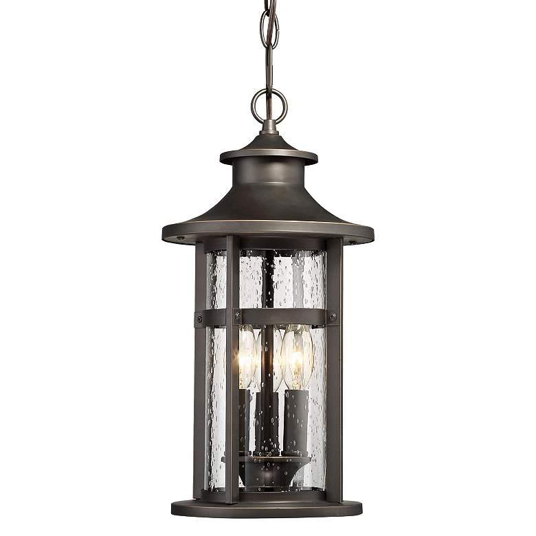 "Highland Ridge 19 1/4"" High Bronze Outdoor Hanging Light"