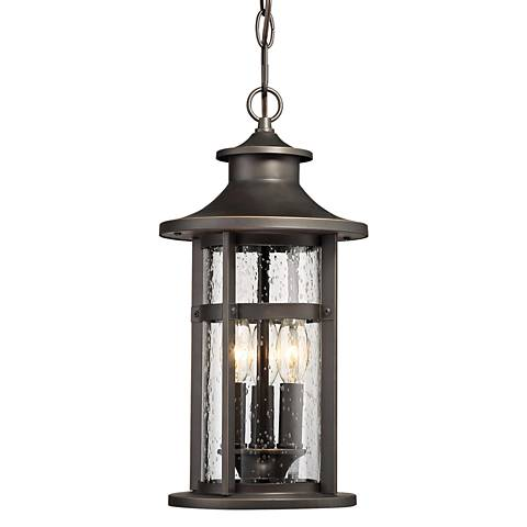 "Highland Ridge 19 1/4"" High Bronze Outdoor Hanging Light"